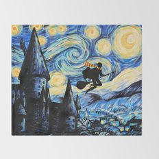 Potter Starry Night Throw Blanket