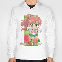 sailor jupiter Hoodies featuring Chibi Sailor Jupiter by Neo Crystal Tokyo