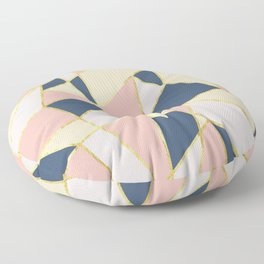 Girly Geometric Triangles with Faux Gold Floor Pillow