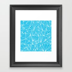 Ab Fan Electric Blue Framed Art Print