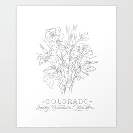 Colorado Sketch Art Print