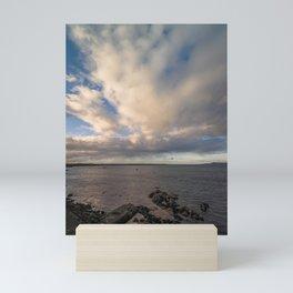 Irish clouds landscape Mini Art Print