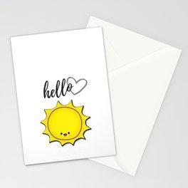 Hello Sunshine Positivity Art Stationery Cards