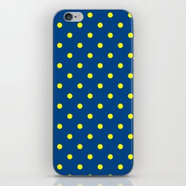 Maize & Blue Polka Dots iPhone Skin