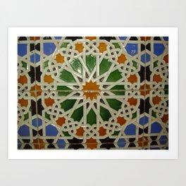 Colorless Tiles Art Print