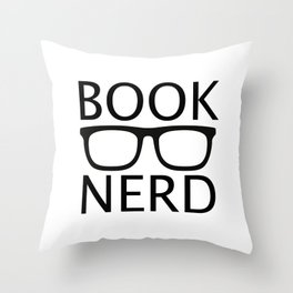 BOOK NERD Throw Pillow
