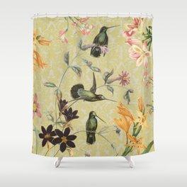 Yellow Hummingbird Shower Curtain