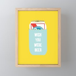 Wish You Were Beer Framed Mini Art Print