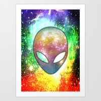 alien Art Prints featuring Alien by Spooky Dooky