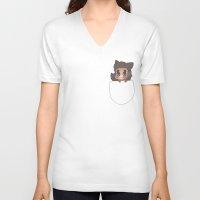 derek hale V-neck T-shirts featuring Pocket Derek! by prettiestalpha