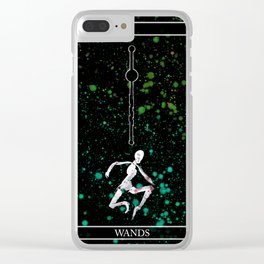 A Tarot of Ink 01 of Wands Clear iPhone Case