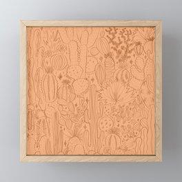 Cactus Scene in Orange Framed Mini Art Print