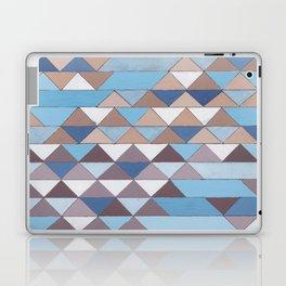 Triangle Pattern No.6 Crisp Blue Laptop & iPad Skin