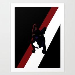 Pablo the French Bulldog Art Print
