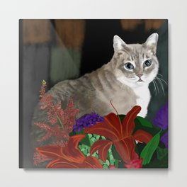 Beloved Kitty Metal Print