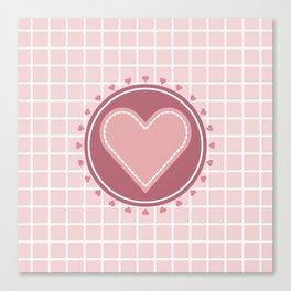 Cute heart Canvas Print