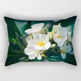 Pua Melia Na Puakea Onaona Tropical Plumeria Maui Hawaii Rectangular Pillow