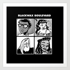 Blackwax Boulevard Album Cover  Art Print