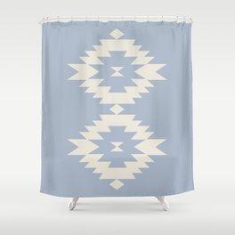 Southwestern Minimalism - Blue Shower Curtain