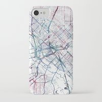 dallas iPhone & iPod Cases featuring Dallas map by MapMapMaps.Watercolors