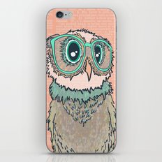 Owl wearing glasses II iPhone & iPod Skin