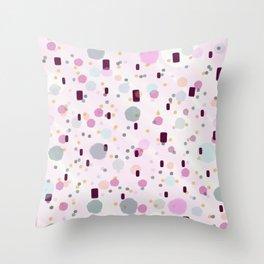 Watercolor Splash Effect Pattern Throw Pillow