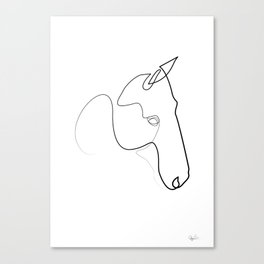 One line Horse 0110 B Canvas Print