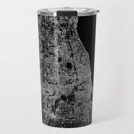 Chicago map Travel Mug