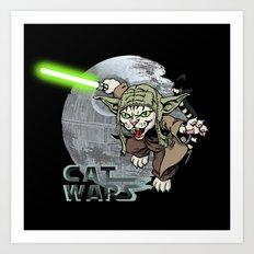 Cat Yoda Art Print