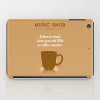 coasters iPad Cases featuring Coffee Coasters — Music Snob Tip #184 by Elizabeth Owens