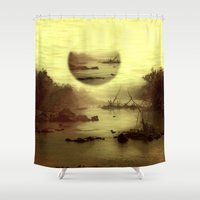 jazzberry Shower Curtains featuring Illusive visions float above my head... by Donuts