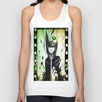 tokyo ghoul Tank Tops featuring GHOUL by shannon's art space