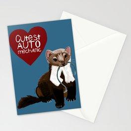 Cutest auto mechanic Stationery Cards