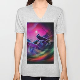 Our world is a magic - Time Tunnel 2 Unisex V-Neck