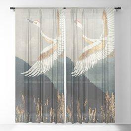 Elegant Flight Sheer Curtain