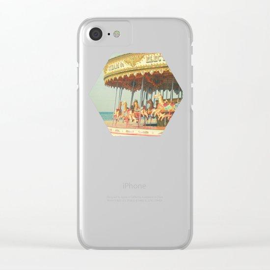 Seaside Carousel Clear iPhone Case