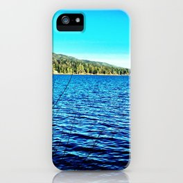 Blue sky, blue water. iPhone Case