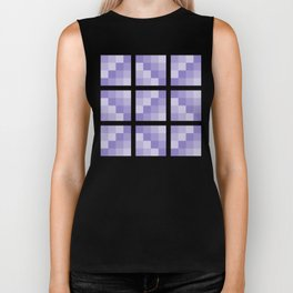 Four Shades of Lavender Square Biker Tank