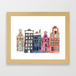 Amsterdam Canal Houses Framed Art Print