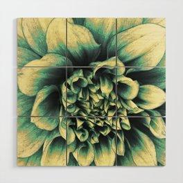La Dahlia Blue Wood Wall Art