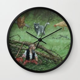 Pointed hat Wall Clock