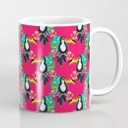 Tropical Pink Toucans Coffee Mug