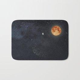 Venus and Moon Night Bath Mat