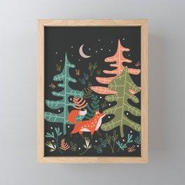 Evergreen Fox Tale Framed Mini Art Print