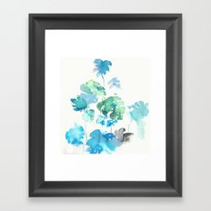 Tropical leaves, (collab Dylan Silva!) Framed Art Print