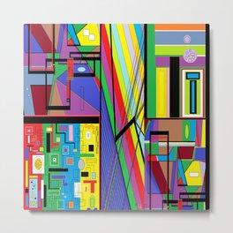 Geometry Abstract Metal Print