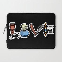 Vintage Barber Love design Hairdresser Gift Laptop Sleeve