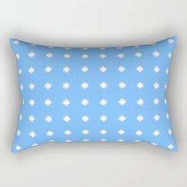 stars 100- blue Rectangular Pillow