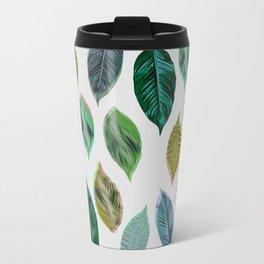 Green Leaves 2 Metal Travel Mug