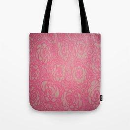 Hot Pink Rose Bed Print Tote Bag
